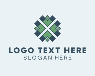 Tile - Arrow Pattern logo design