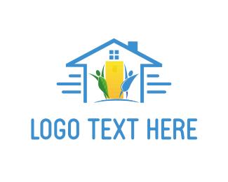 Drop - Eco House logo design