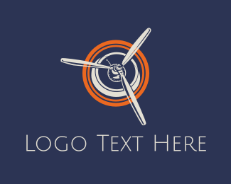 Airplane - Airplane Propeller logo design