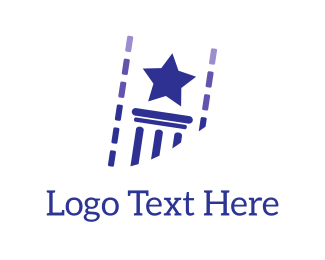 Column - Star & Column logo design