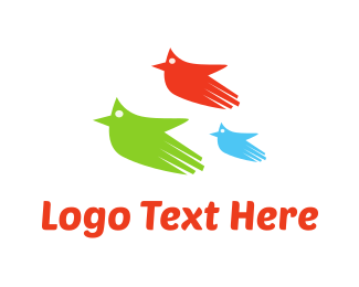 Three - Three Flying Hands logo design