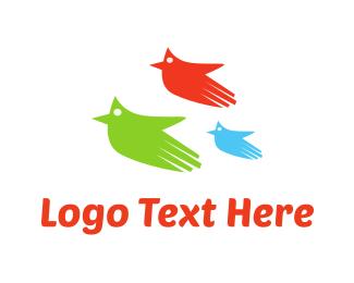 Three Flying Hands Logo