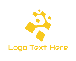 """Yellow Technology"" by LogoBrainstorm"