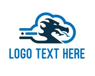Cloud - Dragon Cloud logo design