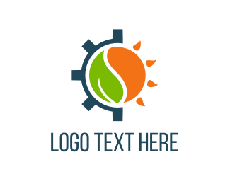 Solar Panel - Eco Gear logo design