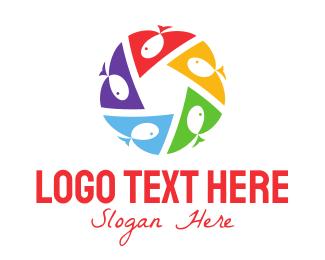 Kindergarden - Fish Circle logo design