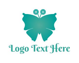 Tailor - Button Butterfly logo design