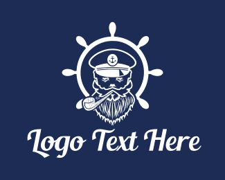 Sea - Sea Captain logo design