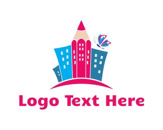 Town - Pencil Town logo design