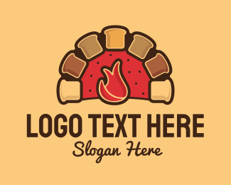 Loaf - Bread Oven logo design