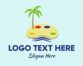 Canvas - Art Island logo design