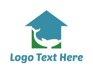 Rescue - Blue Green Dolphin  logo design
