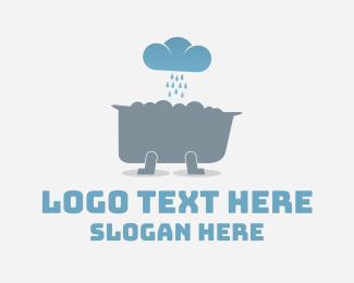 Rain - Weather Tub logo design