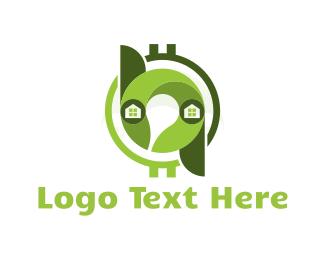 Coin - Eco House logo design