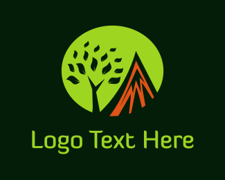 Lava - Mountain & Tree logo design