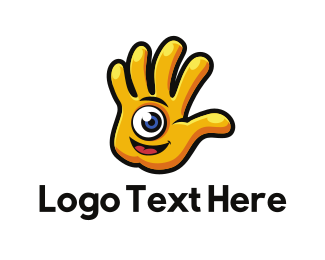 Child - Hand Character logo design