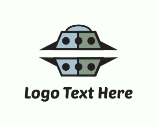 Galaxy - Grey UFO logo design