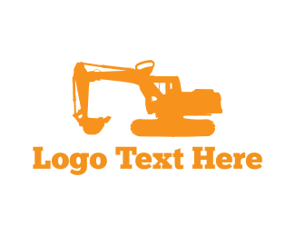 Bulldozer - Excavator Machine logo design