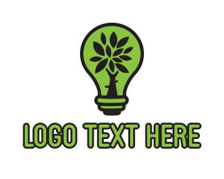 Led - Eco Lamp logo design