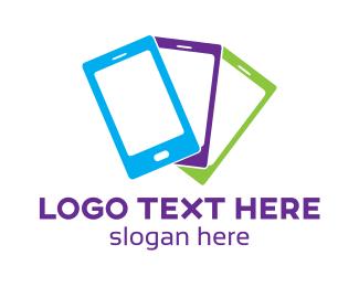 Mobile App - Colorful Mobile Phone logo design
