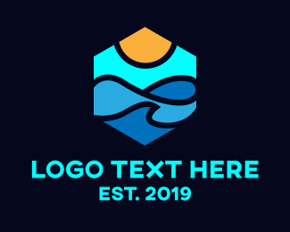Surfer - Beach Vibes logo design