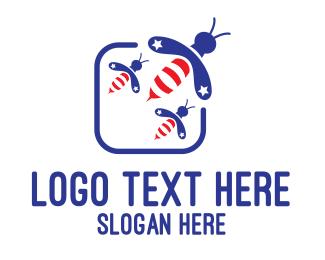 Politics - American Bees logo design