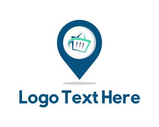 Supermarket - Store Finder logo design