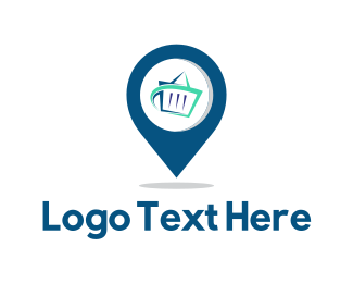 Supermarket - Store Finder logo design