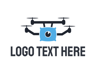 Spy - Pillow Drone logo design