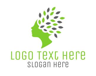 Leaves - Green Hair Leaves logo design