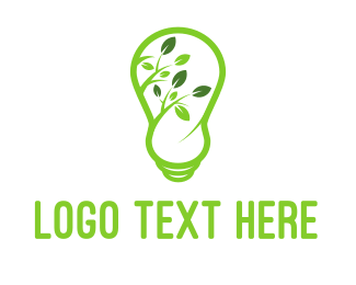 Bulb - Eco Light logo design