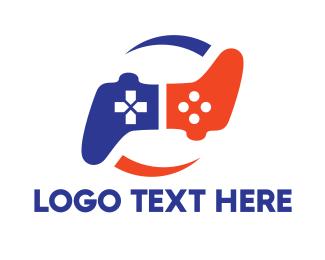 E Games - Boomerang Controller logo design