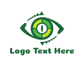 Alligator - Reptilian Eye logo design
