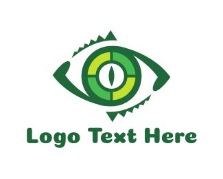 Lizard - Reptilian Eye logo design