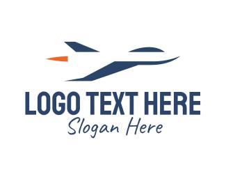 Fighter - Blue Jet logo design