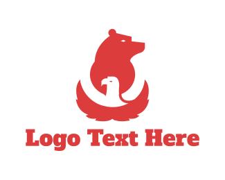 Falcon - Bear & Eagle logo design