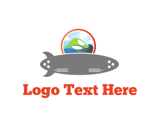 Surf - Grey Submarine logo design