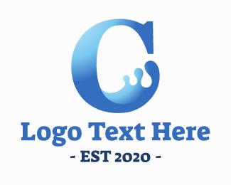 Serif - Liquid C Letter logo design