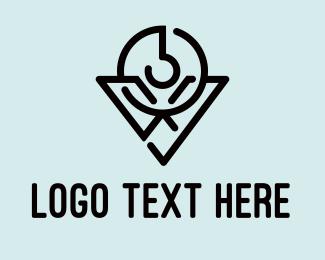 Hook - Modern V Hook logo design