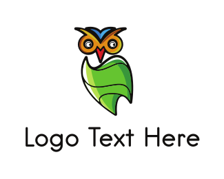 Aviator - Green Owl logo design
