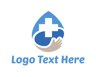 Hospice - Medical Drop logo design