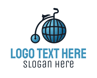 Worldwide - Global High Wheel logo design