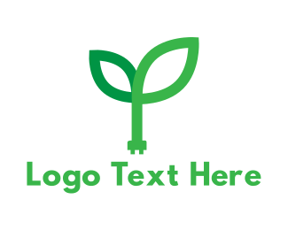 Plug - Green Power logo design