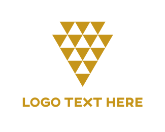 Pyramid - Golded Triangles logo design