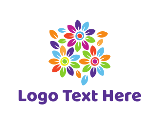 Colorful Bouquet Logo