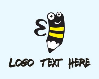 Wasp - Bee Pencil logo design