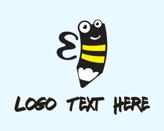 Wasp - Bee Pencil logo design