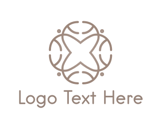 Minimalist - Cross Flower logo design