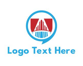 Conversation - Building Talk logo design