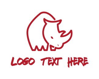 Big - Red Rhino logo design